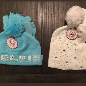 (2) Girl's Hat & Gloves Sets
